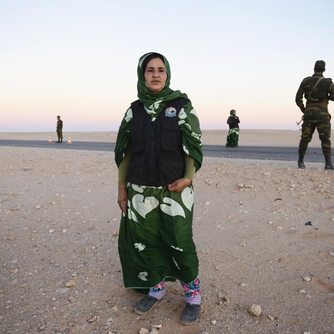 Resultado de imagen de policia saharaui