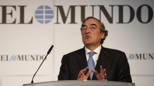 Juan Rosell, presidente de la CEOE, en el Foro de EL MUNDO.