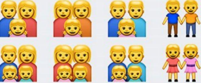 Algunos de los emojis gays de la aplicación WhatsApp.