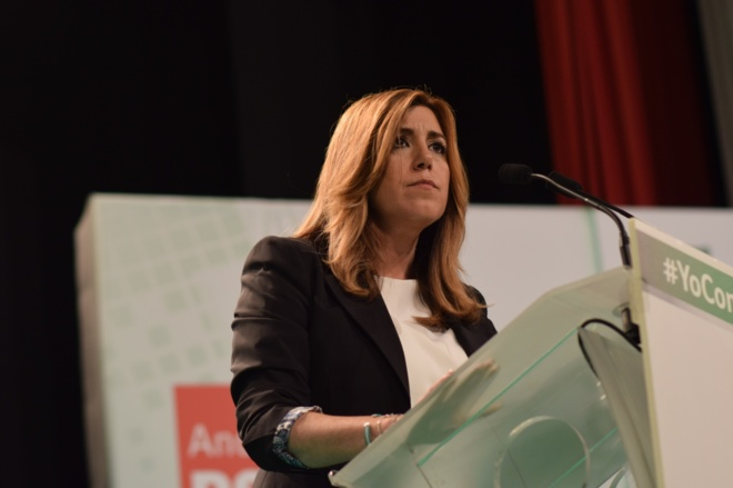 La presidenta de la Junta, Susana Díaz, durante un acto en Écija.