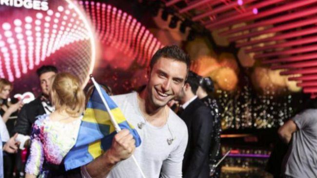 El sueco Måns Zelmerlöw, ganador del Festival de Eurovisión de...