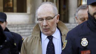 Rodrigo Rato, tras declarar en los juzgados de la Plaza de Castilla.