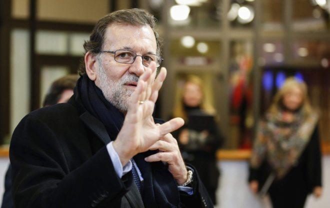 El presidente en funciones, Mariano Rajoy, ayer en Bruselas.