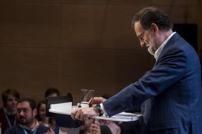 El presidente del Gobierno en funciones, Mariano Rajoy, el pasado...