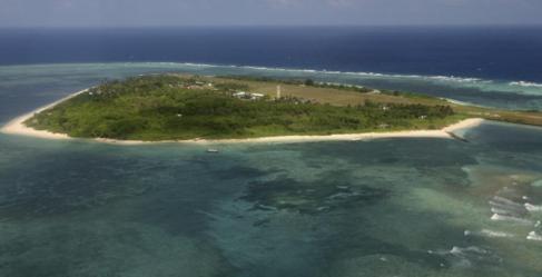 Isla Pagasa, una de las disputadas del archipiélago Spratly en el Mar...