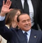 Silvio Berlusconi, a su salida de la convención del Pueblo de la...