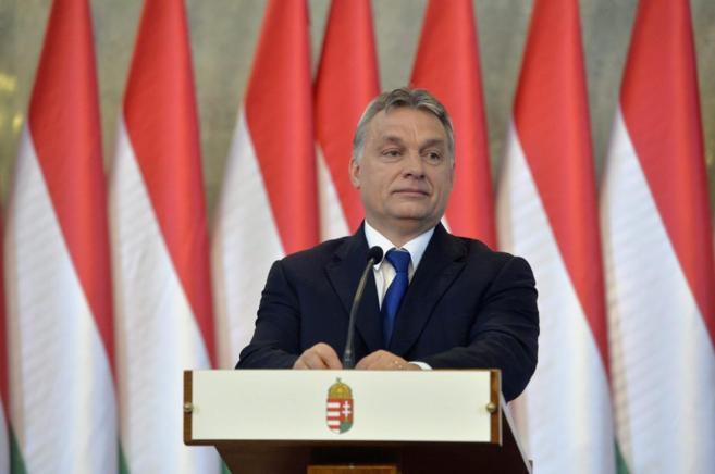 El primer ministro húngaro, Viktor Orban, en una rueda de prensa en...