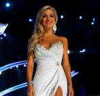 Cara McCollum durante el certamen de belleza 'Miss América...