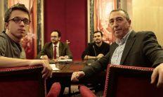 Íñigo Errejón, Joan Baldoví, Antonio Hernando y Alberto Garzón,...
