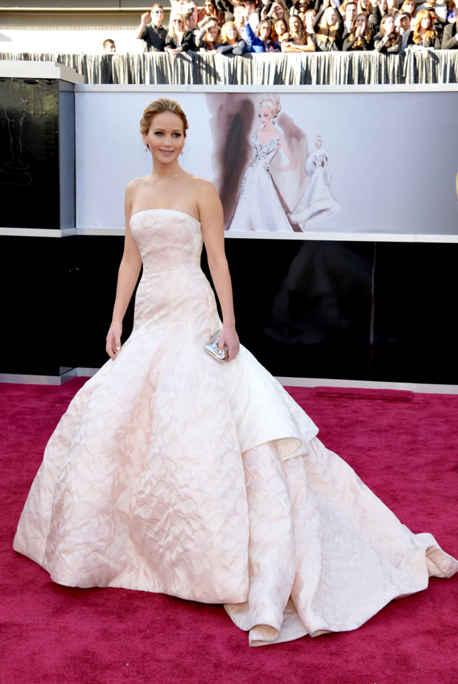 La actriz Jennifer Lawrence en la entrega de los Premios Oscar de...