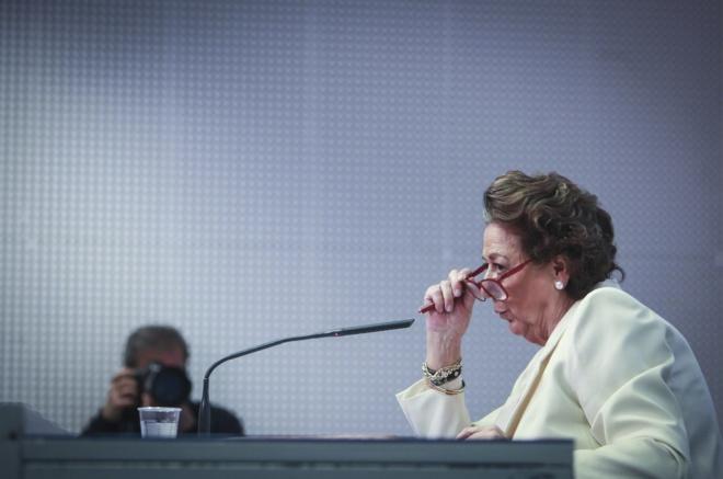 Rita Barberá, el jueves, en rueda de prensa en Valencia.