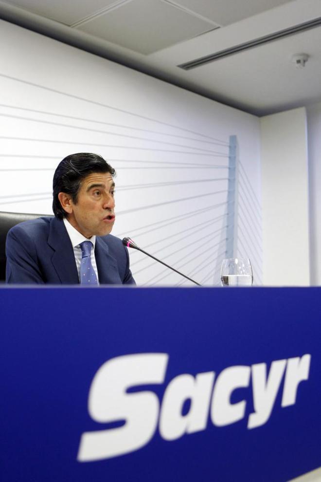 Rueda de prensa del presidente de Sacyr Manuel Manrique