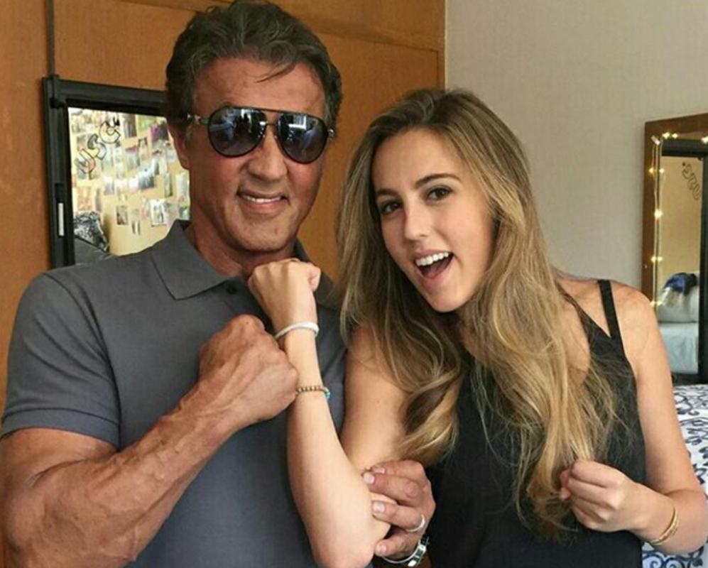 Sylvester Stallone está muy unido a su hija mayor, Sophia Rose...