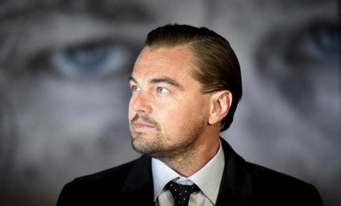 Leonardo Di Caprio, durante la première de 'El renacido' en...