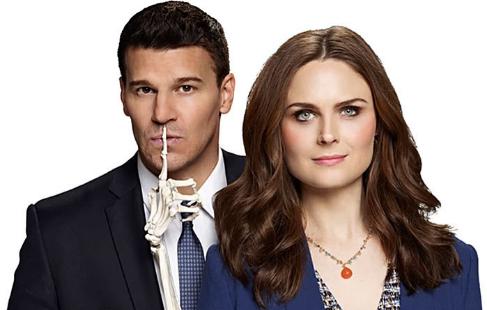 David Boreanaz y Emily Deschanel, protagonistas de 'Bones'.
