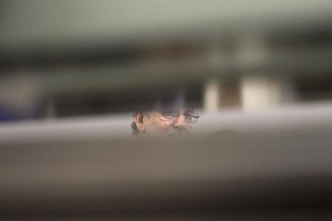 Mariano Rajoy, el pasado 28 de enero, durante una visita al Centro...