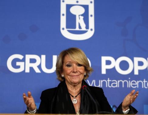 La portavoz del PP en el Ayuntamiento, Esperanza Aguirre