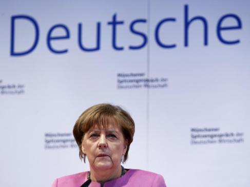 Angela Merkel durante una conferencia la pasada semana.