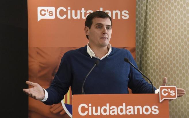 Albert Rivera, durante su discurso ante el Consejo General de...