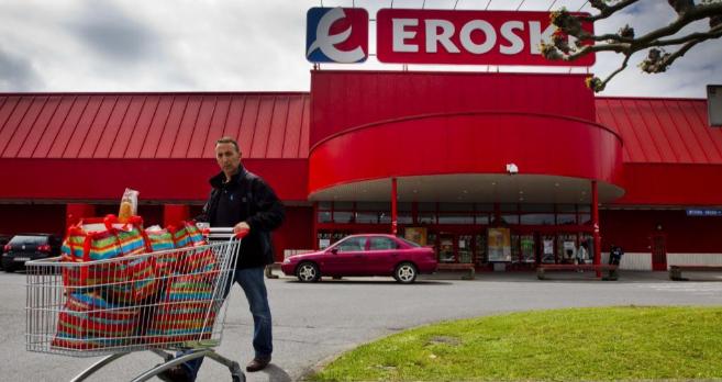 Supermercado de Eroski, en Bilbao.