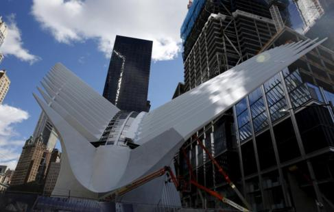 Parte del Oculus de Santiago Calatrava en el World Trade Center de...