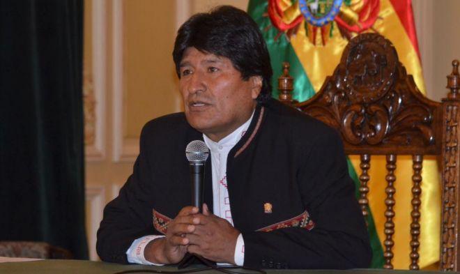Evo Morales, durante su comparecencia de este lunes.