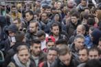 Refugiados en Berlín (Alemania).