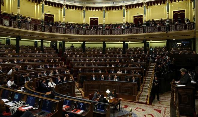 Momento de la votación en la segunda jornada del pleno de investidura...