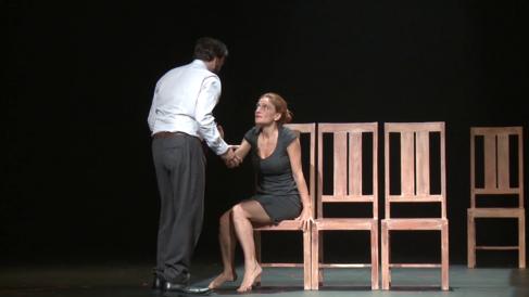 Liberto Rabal y Adriana Davidova, en un momento de 'Hacia el...
