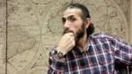 Jihad Dhiab, ex preso de Guantánamo, durante la entrevista.