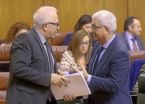 Los consejeros de la Junta Sánchez Maldonado y Jiménez Barrios.