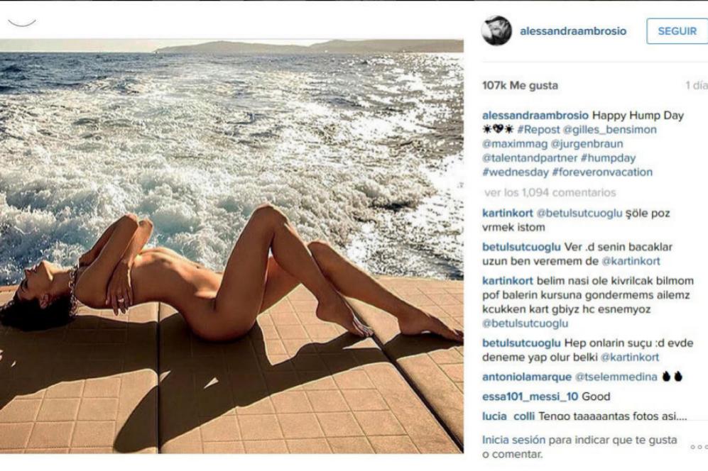 Alessandra Ambrosio celebró así el Happy Hump Day.