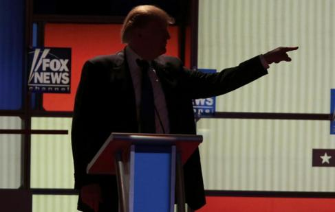 El candidato republicano, Donald Trump, en un momento del debate.