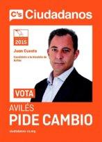 Juan Cuesta, en el cartel electoral de Ciudadanos para los comicios de...