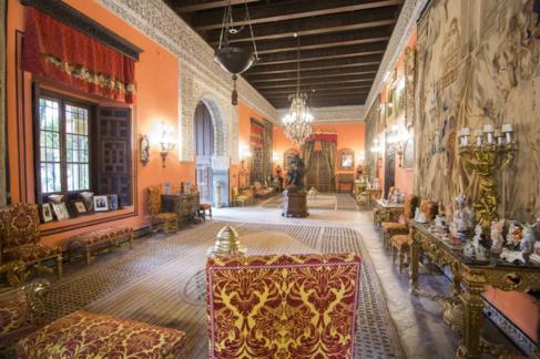 El Salón de la Gitana del sevillano Palacio de las Dueñas.
