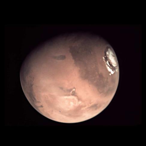 Marte, captado por la 'webcam' de la sonda Mars Express.