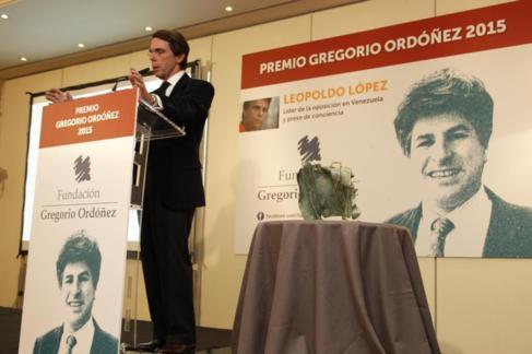 José María Aznar interviene en la entrega del Premio Gregorio...