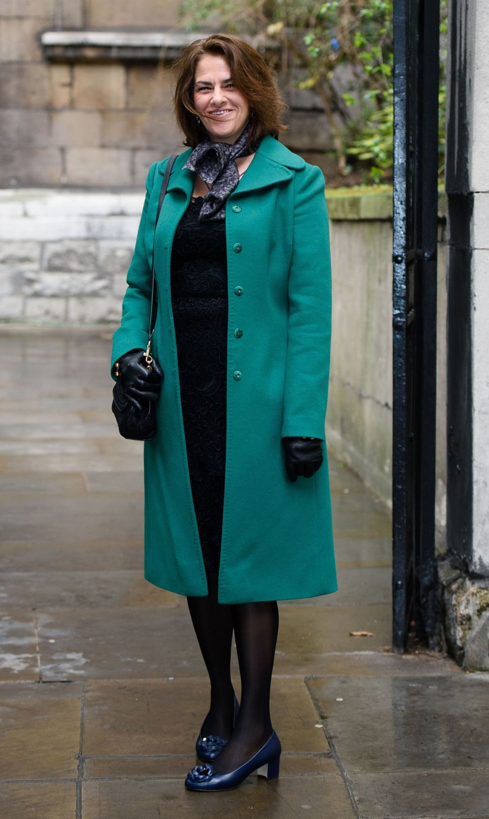 La artista británica Tracy Emin a su llegada a la boda de Rupert...