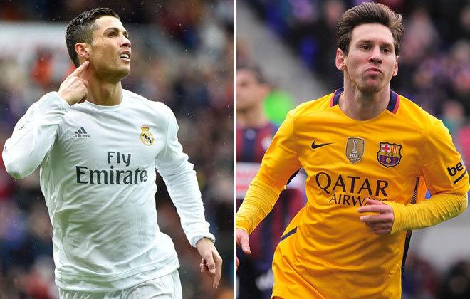 Cristiano Ronaldo (i) y Lionel Messi