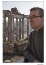 El autor Santiago Posteguillo en Roma.