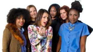 Barei (centro) con, de izda. a dcha, Brequette, Milena Brody, Awinnie...