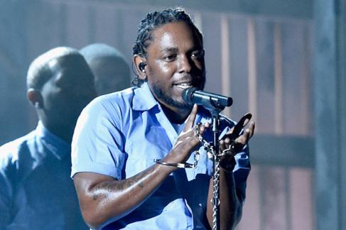 Kendrick Lamar, durante su actuación en la pasada gala de los Grammy