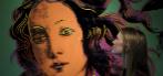 Una empleada del museo contempla la Venus de Andy Warhol.
