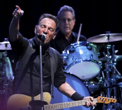 El cantante estadounidense Bruce Springsteen, en su concierto en...