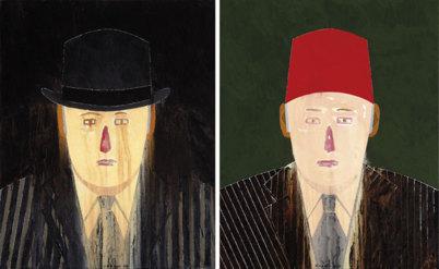 Dos autorretratos de Eduardo Arroyo de 2011.
