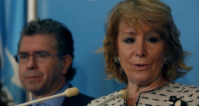 Esperanza Aguirre y Francisco Granados, en una imagen de 2011.