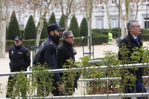 Pujol Ferrusola a su llegada a la Audiencia el 11 de febrero para...