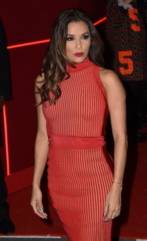 Otra de las protgonistas de la noche fue la actriz Eva Longoria, que...