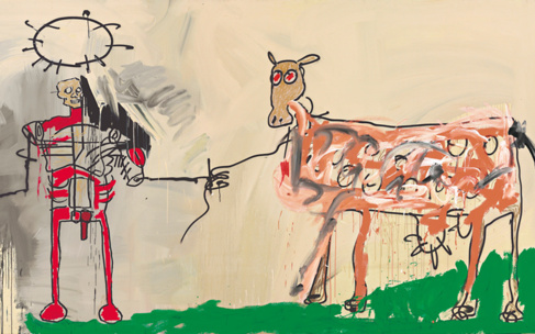 'The field next to the other road', de Jean-Michel Basquiat,...