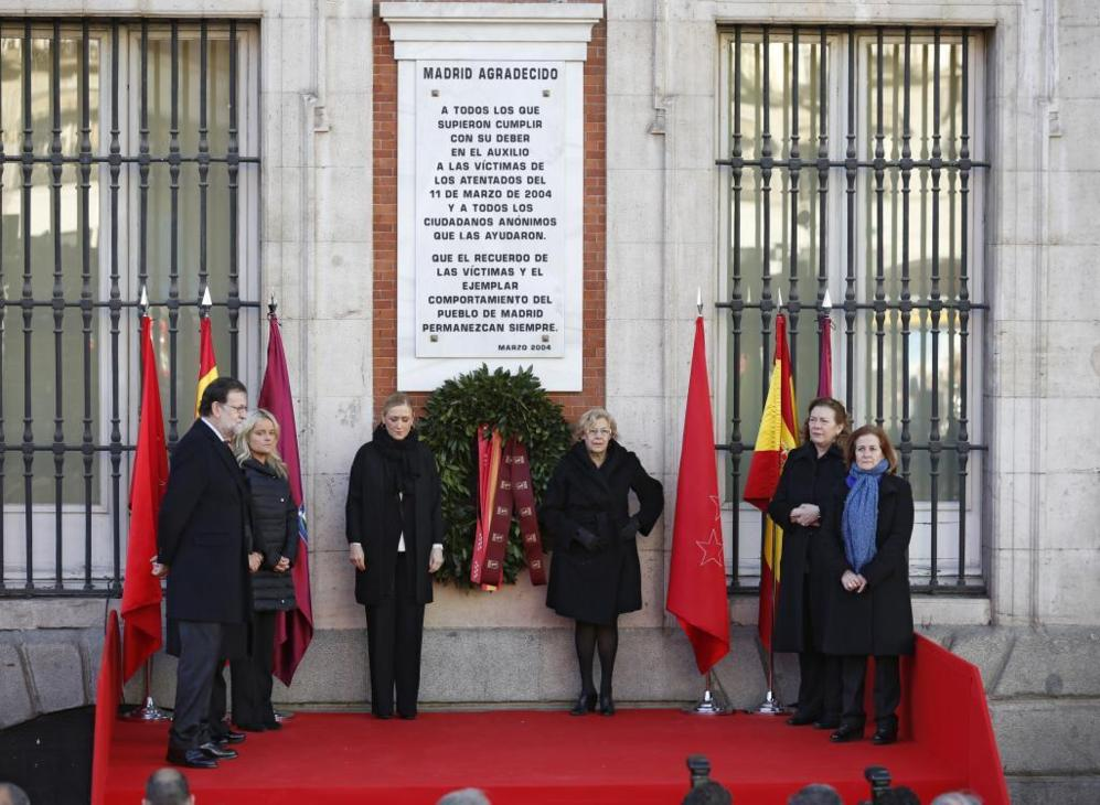 Homenaje a las victimas del 11 M en la Puerta del Sol.